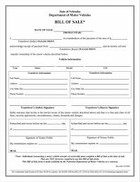 Free Motor Vehicle Bill Of Sale Bill Of Sale For A Vehicle Template Car Nj Dimmimetashortco Dmv