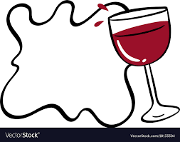 Wine Border Template Border Template With Red Wine In Glass Royalty Free Vector
