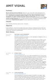 National Sales Manager Resume Samples Visualcv Resume Samples Database