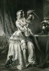 Woman With A Mirror premium clipart ClipartLogocom