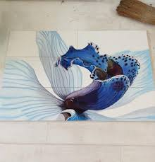 painted tile designs. Tile Painting Ideas Simple Ceramic Adding Artworks To Interior Painted Designs