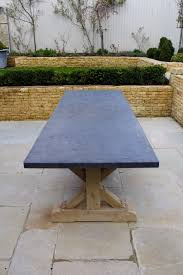 stone table tops. Hand Crafted Oak Table With Belgian Blue Stone Tops
