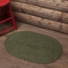 details about new primitive rustic cabin lodge cypress green braided jute rug area floor mat