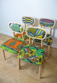 collection of chairs and badges wax going on design by sandrine alouf atmospherist