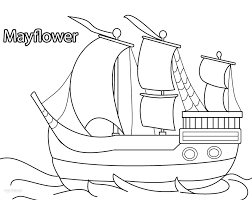 Fresh Mayflower Coloring Page 53 For Coloring Pages Online With