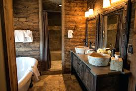 cabin bathroom vanity image of log decor style cabinets