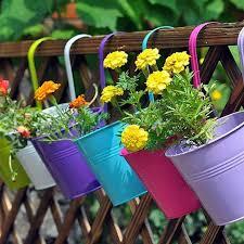 3 5 10pcs metal bucket flower hanging