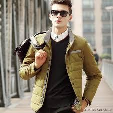 youth short stand collar men s new slim winter coat trend light down jacket white