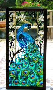 faux stained glass window panels