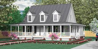 image of nice country floor plans with wrap around porches