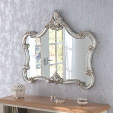 crested large decorative ornate framed