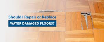 repair or replace water damaged floors