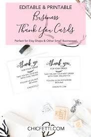 Printable Thank You Cards Printable Thank You Cards For Your Business Print Your Own