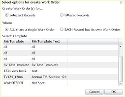 create work order create work orders