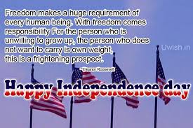 Usa Quotes Mesmerizing Happy Independence Day USA Quotes By Eleanor Roosevelt Uwish