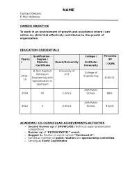 Download Resume 32 Resume Templates For Freshers Download Free Word Format