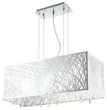 modern rectangular chandelier astonishing high gloss 4 light chrome oval drum shade clear crystal in mid modern rectangular chandelier crystal