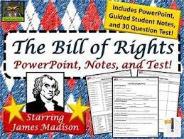 Bill Of Rights Powerpoint The Bill Of Rights For Kids 5th Grade Powerpoint Guided Notes