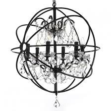 orb crystal iron 6 light chandelier for modern home lighting decoration with lighting and white