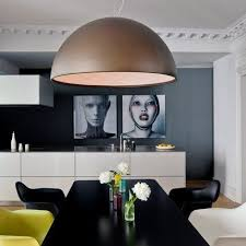 oversized pendant lighting. Oversized Pendant Lights Design: Amazing Dome At Marie Claire Maison Dining Room Large Eames Chairs Dark Walls Ideas Lighting
