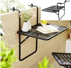 Oldable Metal Mesh Balcony Hanging Table