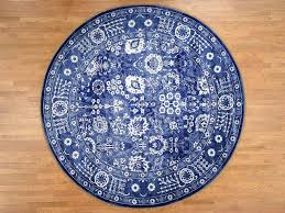7 1 x7 2 hand knotted wool and silk tone on tone round tabriz oriental rug cwr41508