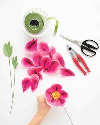 Martha Stewart Paper Flower How To Make Paper Flowers Peony Martha Stewart Weddings