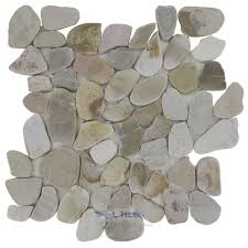flat pebble tile by spa tile flat pebbles mesh backed sheet in sandy beach