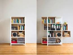 A Simple And Interesting Storage Furniture Design Idea Allows To Expand  Space On The Same Ground Surface Adding More Shelves A Cabinet  Pinterest