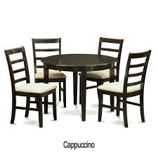 5 piece small round kitchen table and 4 dining chairs cream kitchen table and 4 chairs