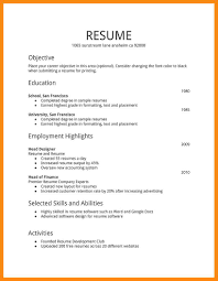 Amazing Resumes 100 samples of simple resumes manager resume 71