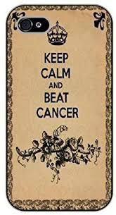 touch4 <b>Keep calm and beat</b> cancer - black plastic case / Keep calm ...