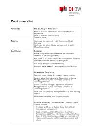 Curriculum Vitae Template Australia Healthcare Curriculum Vitae Templates At