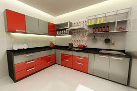 Modular Kitchen Designs Red White Latest Home Decoration Cabinets
