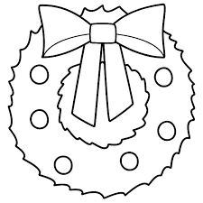 Stunning Decoration Christmas Wreath Coloring Pages Page Xmas
