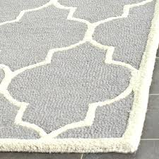 hand tufted wool rug grey ivory area 8x10
