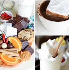 chocolate chip cookies cream hot chocolate mint hot chocolate