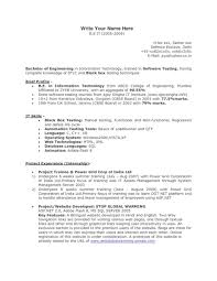 Resume Manual Testingample Resumesamples Foroftware Tester And