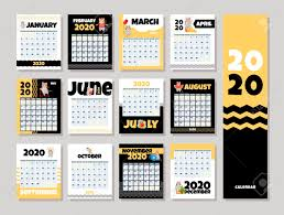 Calendar 2020 Cute Monthly Calendar With Girl In Mouse Costume