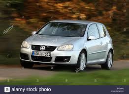 VW Volkswagen Golf GT, Golf V, model year 2005-, silver, driving ...