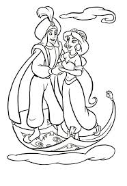 Small Picture Aladdin coloring pages flying with magic carpet ColoringStar