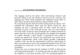 eye witness testimony a level psychology marked by teachers com document image preview