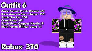 With or without the ice arm still so pretty luna cute. 10 Awesome Purple Roblox Outfits Youtube