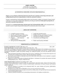 Resume Templates For Finance Professionals