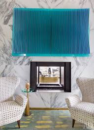 aqua rug kelly wearstler decorated apartment dallas