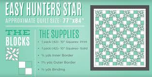 New Friday Tutorial: The Hunter's Star Quilt & Easy Hunter's Star Quilt Tutorial! Adamdwight.com