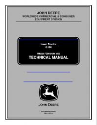 repair manual john deere lawn tractor g pdf technical manual repair manual john deere lawn tractor g100 pdf technical manual tm2020