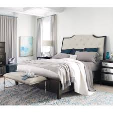 Upholstered sleigh bed frame Royal Style Humble Abode Sutton House Wood Upholstered Sleigh Bed Humble Abode