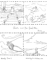 Jonah And The Whale Coloring Page New Photos Printable Bible Story