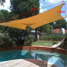 sun shade awning sun block sail shelter net outdoor garden car cover canopy patio swimming pool sunscreen accessories 2x1 8m canopy patio cover patio canopy